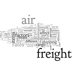 Air freight rate vector