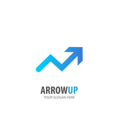 arrow up logo for business company simple arrow vector image