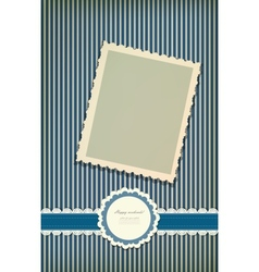 Beautiful greeting vintage card vector image