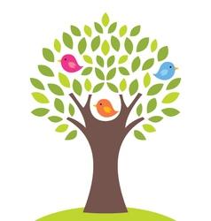 Birds on a tree vector image