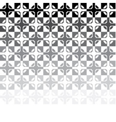 black and white abstract tile mosaic vector image
