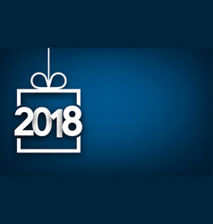 Blue 2018 new year backgorund vector