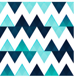 blue zigzag seamless pattern vector image