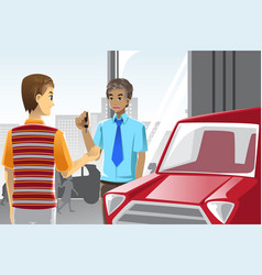 buying a car vector image
