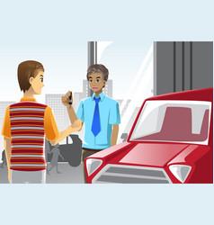 Buying a car vector