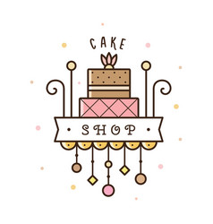 Cake shop logo vector
