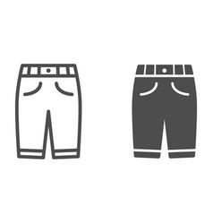 Capri line and solid icon clothes concept man vector