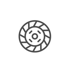 Car clutch line icon vector