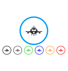 cargo aircraft rounded icon vector image