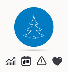 Christmas fir tree icon spruce sign vector