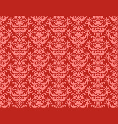 coral color damask vector image