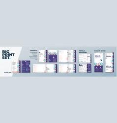 corporate identity print template set brochure vector image