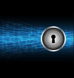 cyber security keyhole lock circle vector image