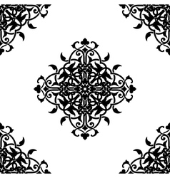 Decorative fractal in arabic or muslim style vector