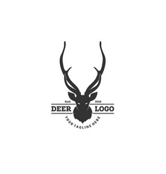 deer logo designs inspirations hunting club logo vector image