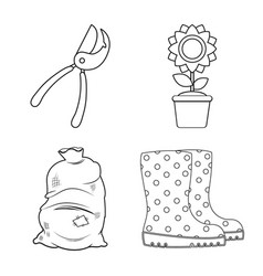 design of farm and agriculture logo set of vector image