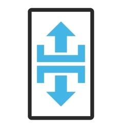 Divide Vertical Direction Framed Icon vector