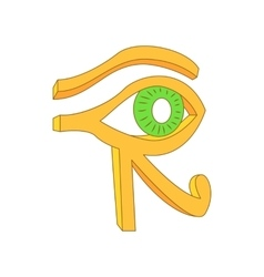 Eye of Horus icon in cartoon style vector