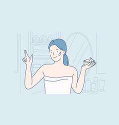 face cream care concept vector image