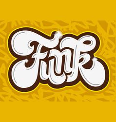 Funk music lettering type design image vector