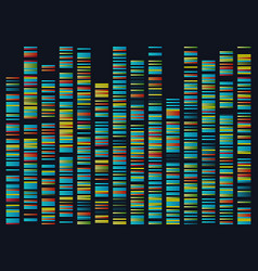 genomic sequences structure dna genome vector image