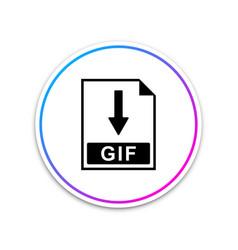 gif file document icon download gif button icon vector image