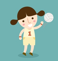 Girl volleyball vector