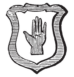 hand and bordure was most ancient difference vector image