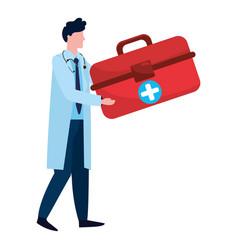 healthcare medical cartoon vector image