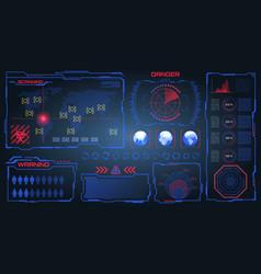 Hud ui gui futuristic frames user interface vector