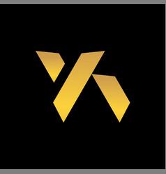 initials letter ya logo vector image
