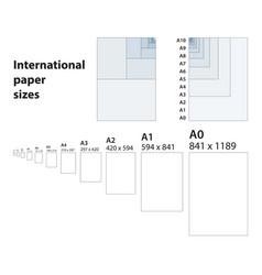 international standard of paper sizes vector image