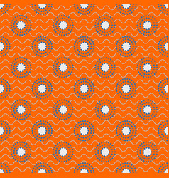 japanese circles pattern in blue and orange colors vector image