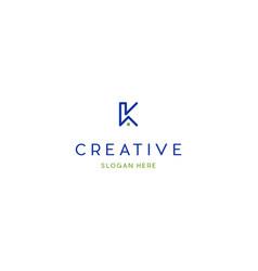letter k house creative logo design vector image