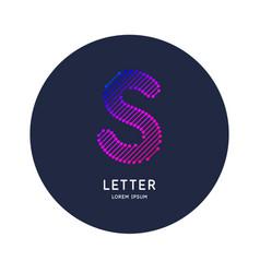 letter s latin alphabet display vector image