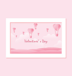 love and valentine day on sweet background vector image