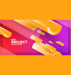 modern abstract background poster with three vector image