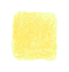 Orange crayon scribble texture stain isolated on vector