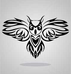 Owl Bird Tribal vector