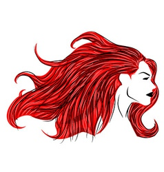 Red hair woman vector
