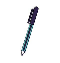 school pen supply on white background vector image