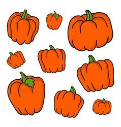 Set of retro pumpkins vector