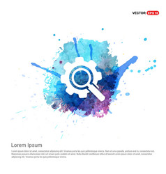 setting icon - watercolor background vector image