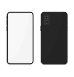 smartphone in realistic style two sizes vector image