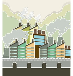 Smoke coming out of factory vector image