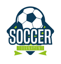 soccer logo sport vector image