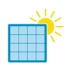 Solar panel with sun icon vector image