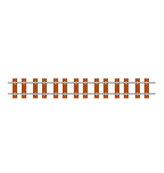 Straight railway line vector