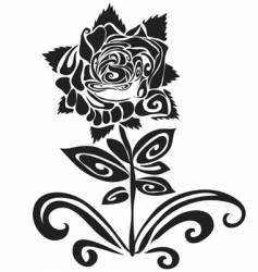 tattoo of a rose vector image