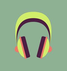 technology gadget in flat design headphones vector image